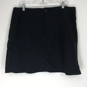 Patagonia 12 Skirt Skort Shorts Black Drawstring
